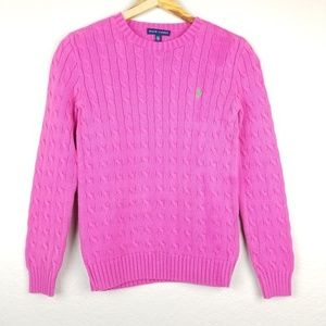 Polo Ralph Lauren - Hot Pink Cable Knit Sweater